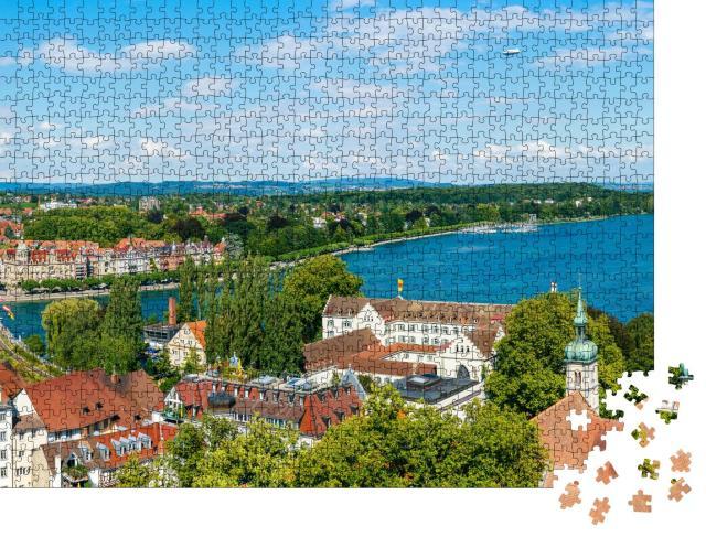 """Puzzle 1000 Teile """"Konstanz  am Rhein und Bodensee"""""""