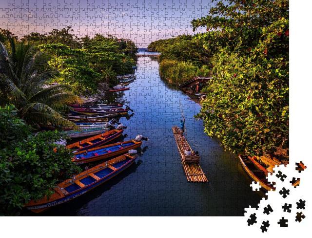 "Puzzle 1000 Teile ""Rafting auf dem White River in St. Ann, Jamaika"""