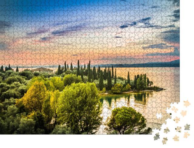 """Puzzle 1000 Teile """"Schöner Sonnenuntergang über dem Gardasee, Italien"""""""