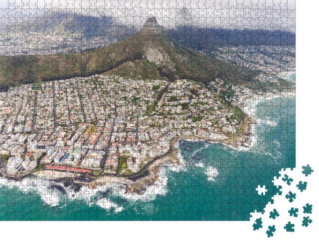 """Puzzle 1000 Teile """"Kapstadt, Südafrika, aus der Vogelperspekive"""""""