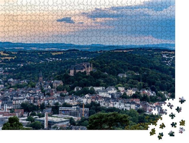 """Puzzle 1000 Teile """"Marburg an der Lahn mit Landgrafenschloss"""""""