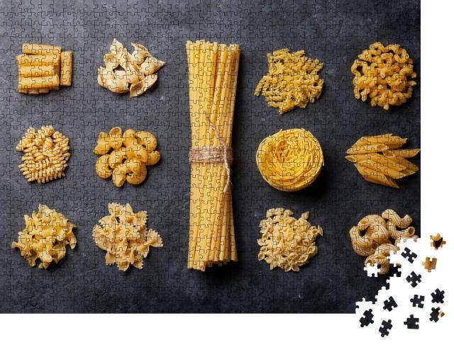 """Puzzle 1000 Teile """"Köstliche Pasta-Sorten"""""""