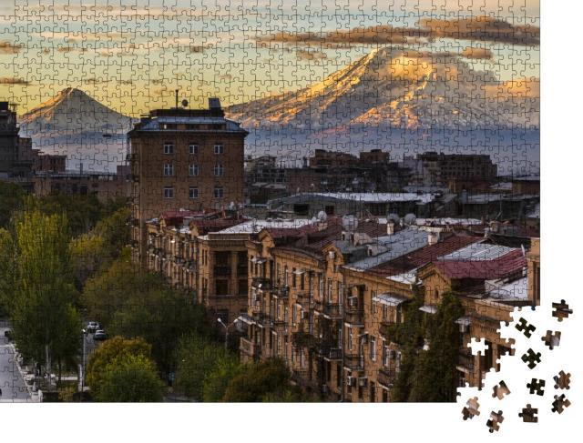 """Puzzle 1000 Teile """"Die Stadt Eriwan mit majestätischen Berg Ararat, Armenien"""""""