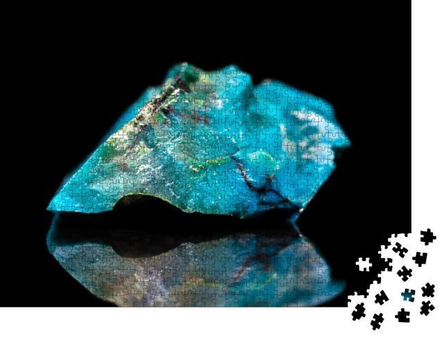 "Puzzle 1000 Teile ""Chrysokoll-Mineralstein, Edelstein, Mineral"""