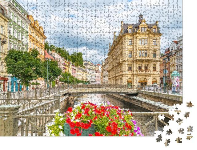 """Puzzle 1000 Teile """"Karlsbad: weltberühmte Stadt mit Mineralquellen"""""""