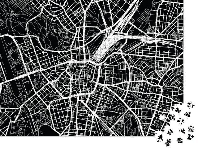 """Puzzle 1000 Teile """"Vektor-Stadtplan von Leipzig, Deutschland"""""""