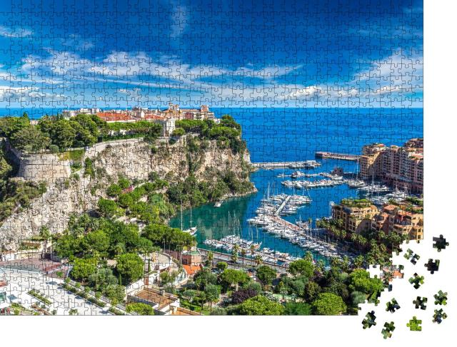 "Puzzle 1000 Teile ""Panoramablick auf den Prinzenpalast in Monte Carlo im Sommer, Monaco"""