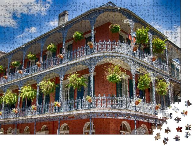 """Puzzle 1000 Teile """"Gebäude in New Orleans"""""""