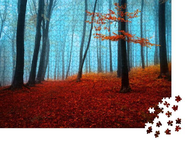 """Puzzle 1000 Teile """"Mystischer Herbsttag im Wald"""""""