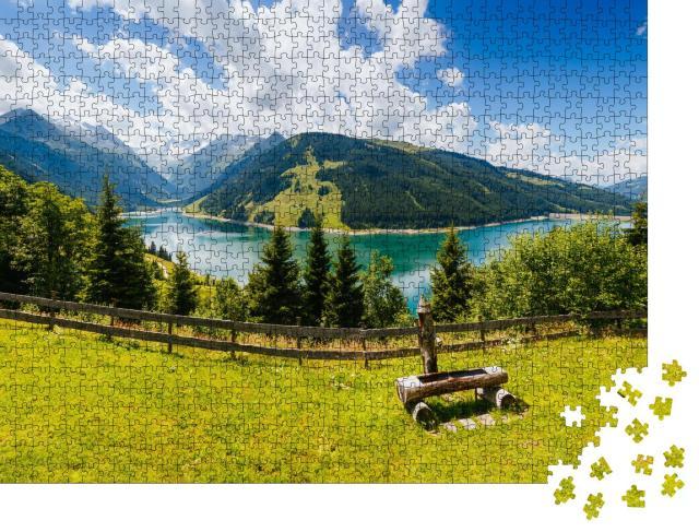 """Puzzle 1000 Teile """"Durlassboden-Stausee, Gemeinde Gerlos im Zillertal"""""""