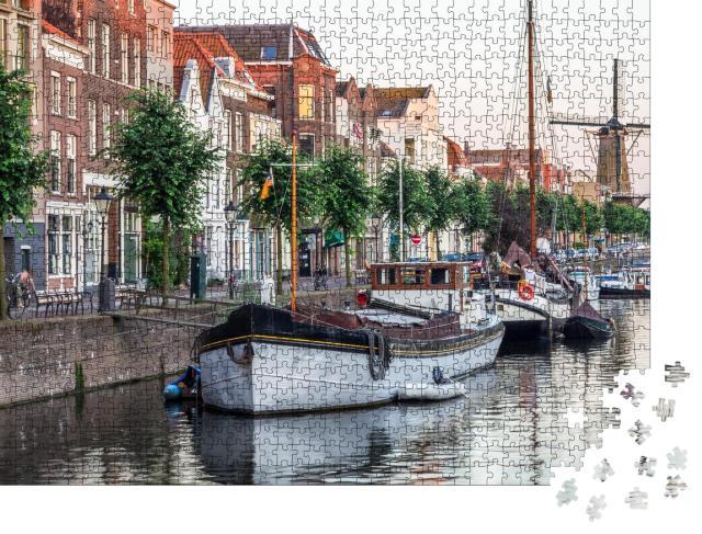 """Puzzle 1000 Teile """"Ansicht von Rotterdam, Niederlande"""""""