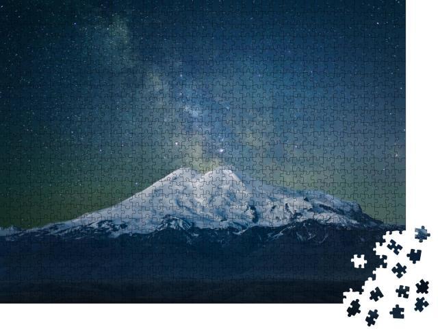 """Puzzle 1000 Teile """"Berg Elbrus und die Milchstraße"""""""