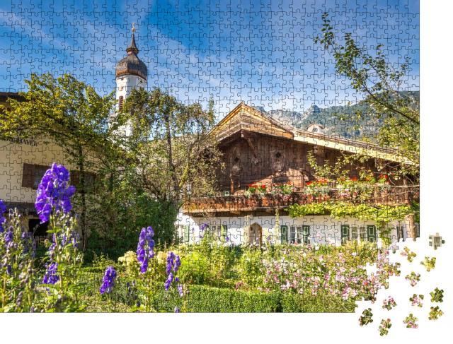 """Puzzle 1000 Teile """"Historische Stadt Garmisch-Partenkirchen, Bayern, Deutschland"""""""