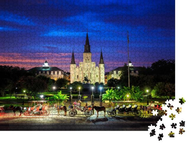 """Puzzle 1000 Teile """"Saint Louis Cathedral und Jackson Square in New Orleans, Louisiana"""""""