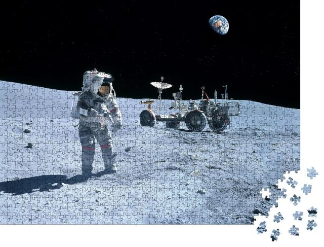 "Puzzle 1000 Teile ""Astronaut am Mond-Rover, Mond, NASA"""