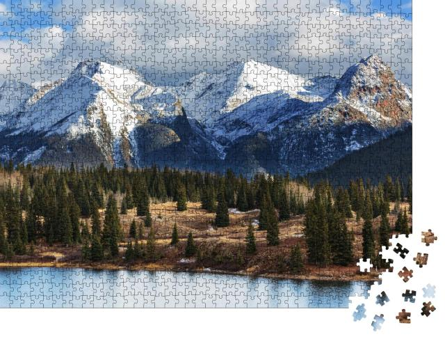 "Puzzle 1000 Teile ""Berglandschaft der Colorado Rocky Mountains, USA"""