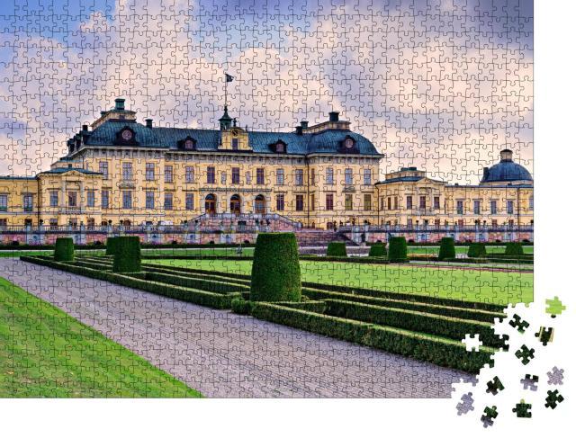 """Puzzle 1000 Teile """"Schloss Drottningholm in Stockholm, Schweden"""""""