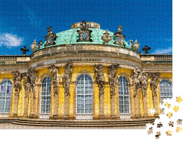 """Puzzle 1000 Teile """"Schloss Sanssouci, das Sommerpalais von Friedrich dem Großen in Potsdam"""""""