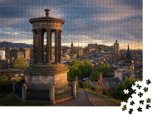 """Puzzle 1000 Teile """"Wunderschöne Abenstimmung über Edinburgh, Schottland"""""""