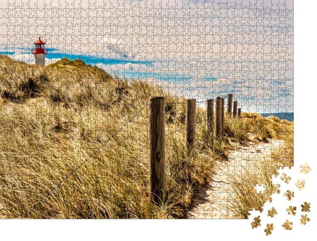 """Puzzle 1000 Teile """"Leuchtturm auf Sylt, Nordsee, Deutschland"""""""