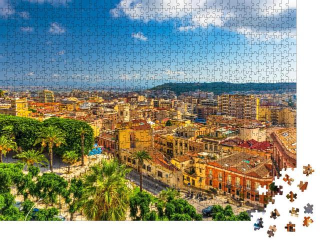 """Puzzle 1000 Teile """"Altstadt von Cagliari, Sardinien, Italien"""""""