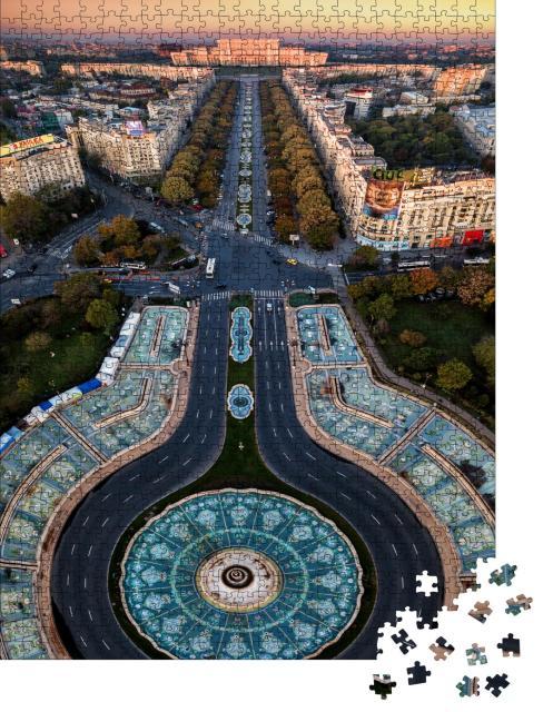 """Puzzle 1000 Teile """"Bukarest, Hauptstadt von Rumänien"""""""