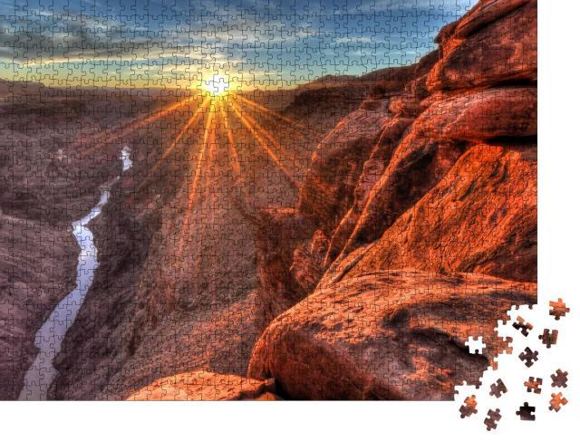 "Puzzle 1000 Teile ""Sonnenuntergang am Toroweap, Grand Canyon National Park, Arizona"""