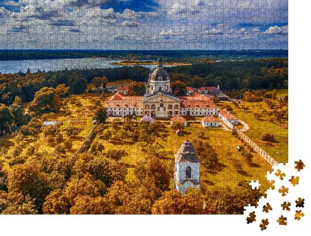 """Puzzle 1000 Teile """"Kloster und Kirche von Pazaislis auf einer Habinsel im Kaunas-Stausee, Litauen"""""""