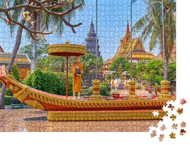 """Puzzle 1000 Teile """"Wunderschöner Tempel in Siem Reap, Kambodscha"""""""