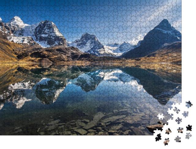 """Puzzle 1000 Teile """"Wunderschöne Berglandschaft, Anden, Bolivien"""""""