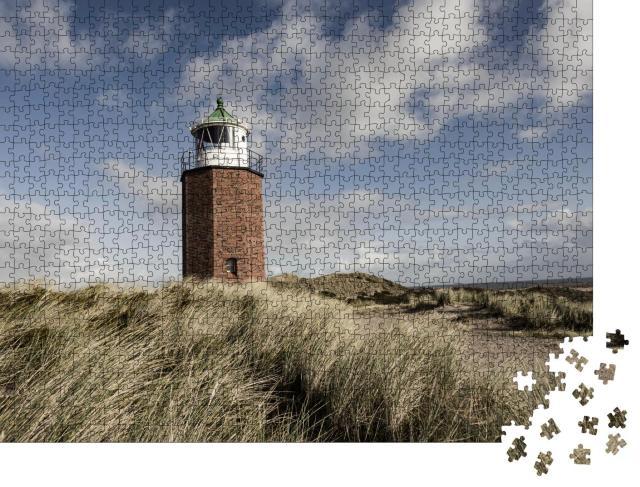 """Puzzle 1000 Teile """"Leuchtturm Quermarkenfeuer bei Kampen, Sylt, Deutschland"""""""