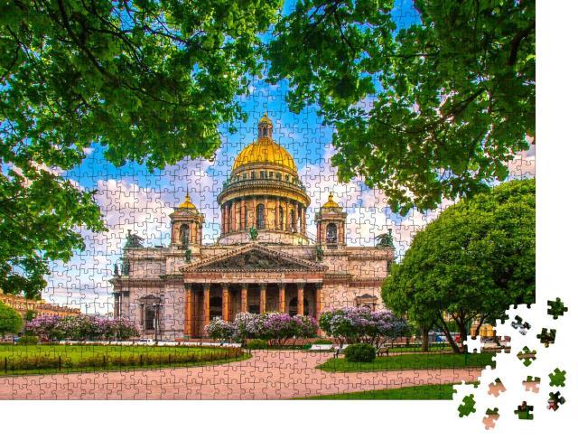 """Puzzle 1000 Teile """"Sommer über Sankt Petersburg und seinen Museen, Russland"""""""