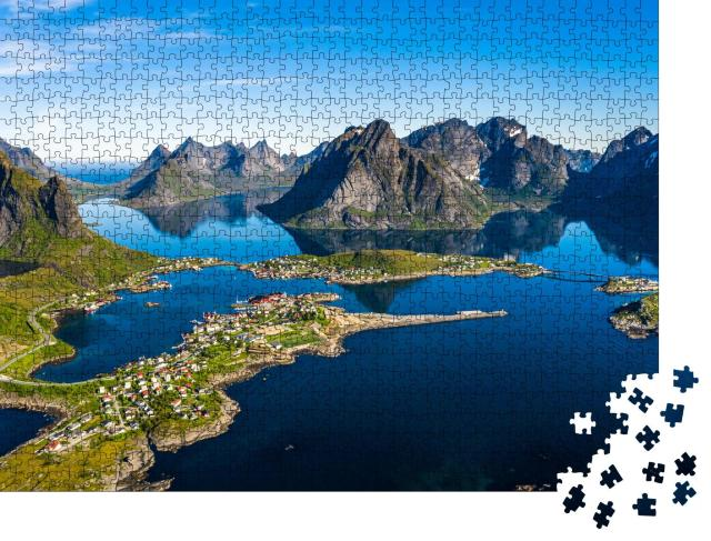 "Puzzle 1000 Teile ""Lofoten, Inselgruppe in der Region Nordland, Norwegen"""