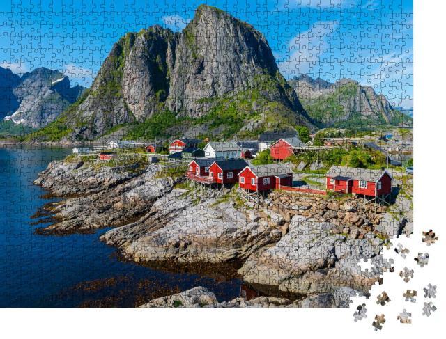 """Puzzle 1000 Teile """"Sommerlandschaft auf den Lofoten, Norwegen"""""""