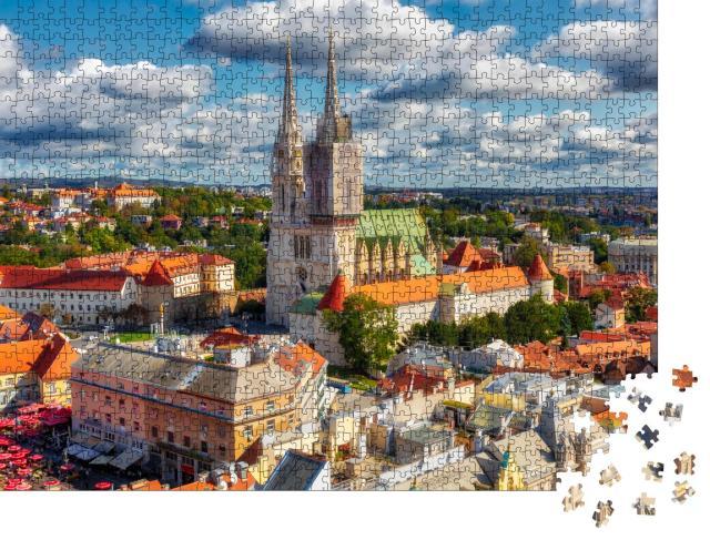 """Puzzle 1000 Teile """"Kathedrale von Zagreb in Kaptol, Stadtteil von Zagreb, Kroatien"""""""