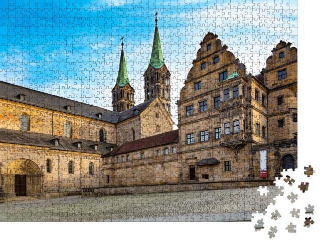 """Puzzle 1000 Teile """"Blick auf den alten Bamberger Dom, Deutschland"""""""