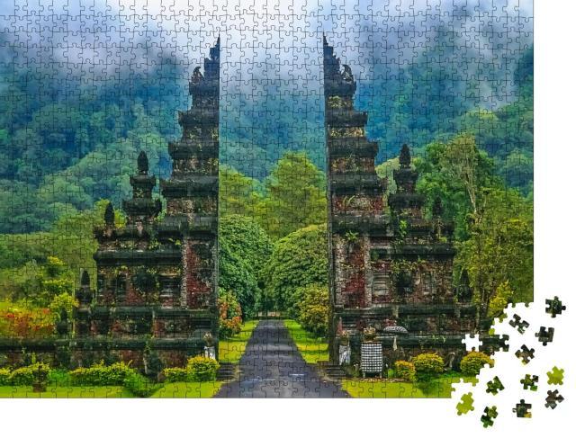 """Puzzle 1000 Teile """"Tore zu einem der Hindu-Tempel auf Bali in Indonesien"""""""