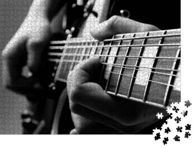 """Puzzle 1000 Teile """"Das Spiel mit einer Gitarre"""""""