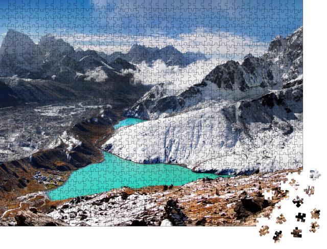 """Puzzle 1000 Teile """"Gletschersee im Himalaya, Nepal"""""""