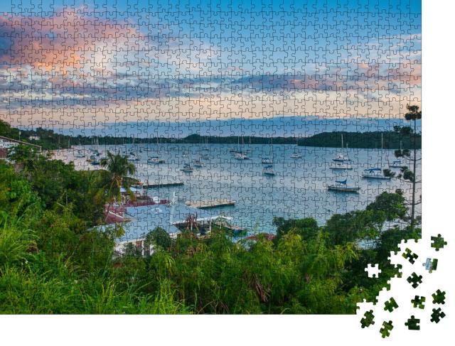 """Puzzle 1000 Teile """"Die Bucht von Neiafu nach Sonnenuntergang, Vava'u-Inseln, Tonga, Südpazifik"""""""