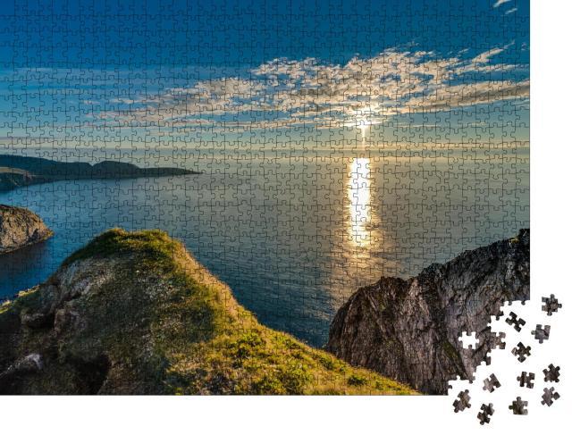 """Puzzle 1000 Teile """"Nordkap an der Küste der Insel Mageroya in Norwegen"""""""