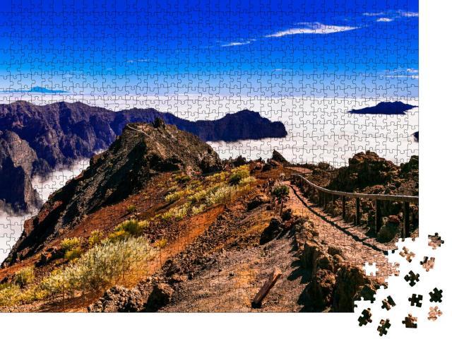 """Puzzle 1000 Teile """"Weg zum Himmel. Mirador Roque de los Muchachos - La Palma, Kanarische Inseln"""""""