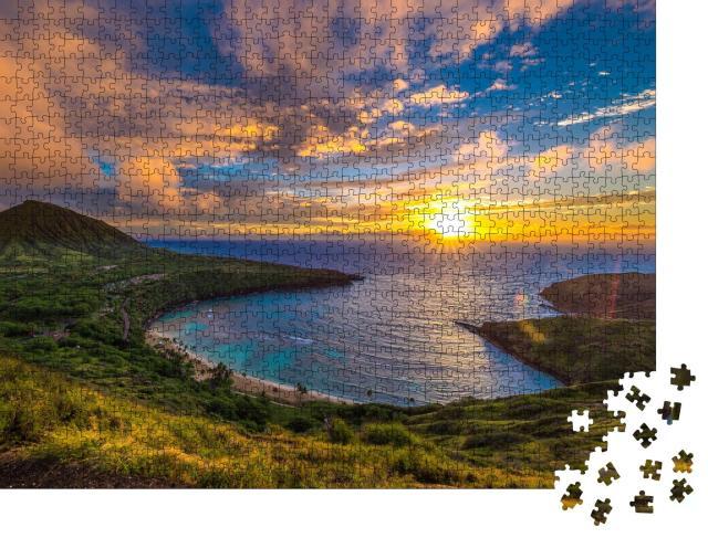 """Puzzle 1000 Teile """"Sonnenaufgang über der Hanauma Bay auf Oahu, Hawaii"""""""