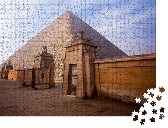 """Puzzle 1000 Teile """"Die Pyramiden von Gizeh in Ägypten"""""""