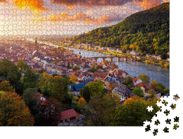 """Puzzle 1000 Teile """"Heidelberg am Neckar, Deutschland"""""""