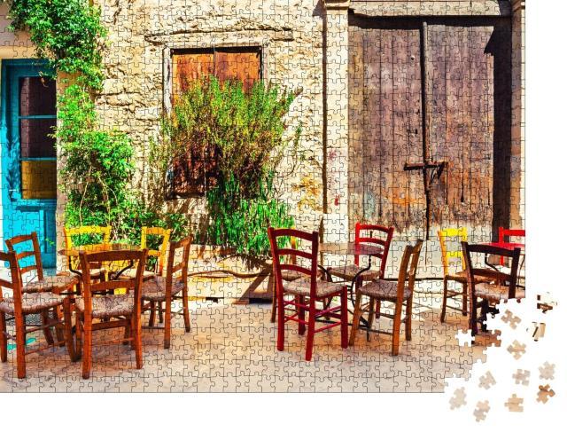 """Puzzle 1000 Teile """"Malerisches Café in Limassol, Zypern"""""""