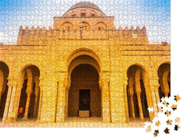 """Puzzle 1000 Teile """"Große Moschee: antike Architektur in der Sahara, Kairouan, Tunesien"""""""