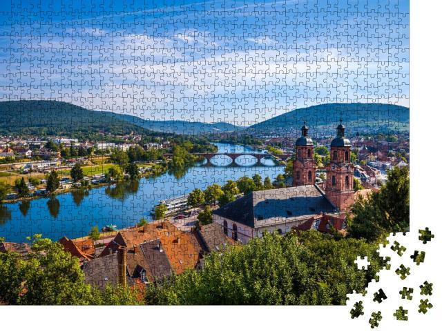 """Puzzle 1000 Teile """"Stadt Miltenberg, Bayern, Deutschland."""""""