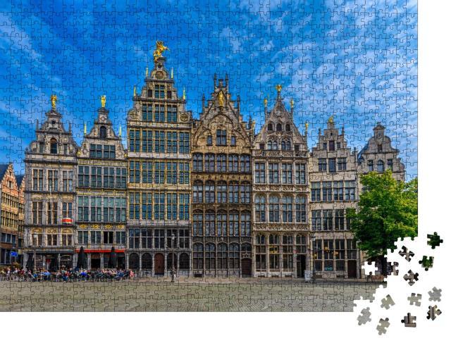 """Puzzle 1000 Teile """"Der historische Grote Markt von Antwerpen, Belgien"""""""