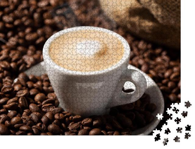 """Puzzle 1000 Teile """"Cappuccino, frisch aufgebrüht"""""""